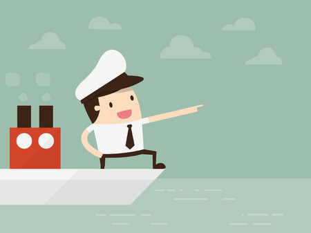 船で移動するイラスト素材