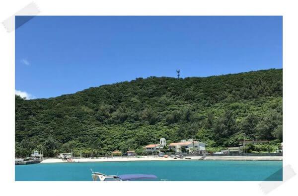 沖縄の海と山