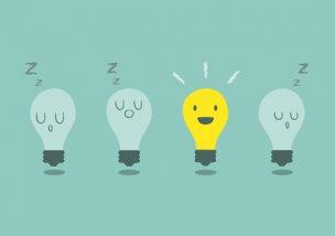 電球で表されるアイディアのイラスト