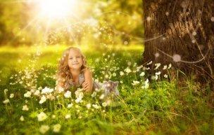 かわいい少女の写真