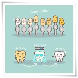 歯のホワイトニングのビフォアフターの絵