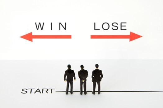 勝者と敗者のイメージ図