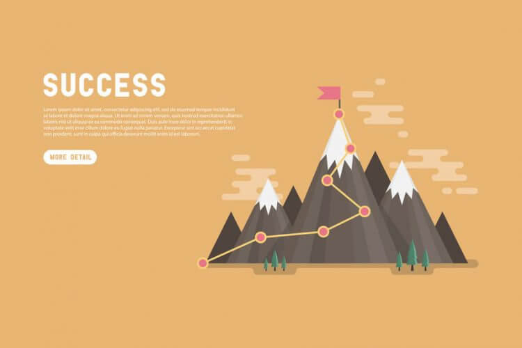 成功という頂上への登山